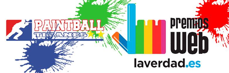 Paintball Titanes en los premios web de La Verdad