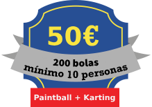 tarifa paintball karting